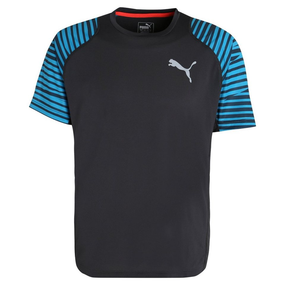 PUMA Vent Graphic Trainingsshirt Herren in anthrazit / blau