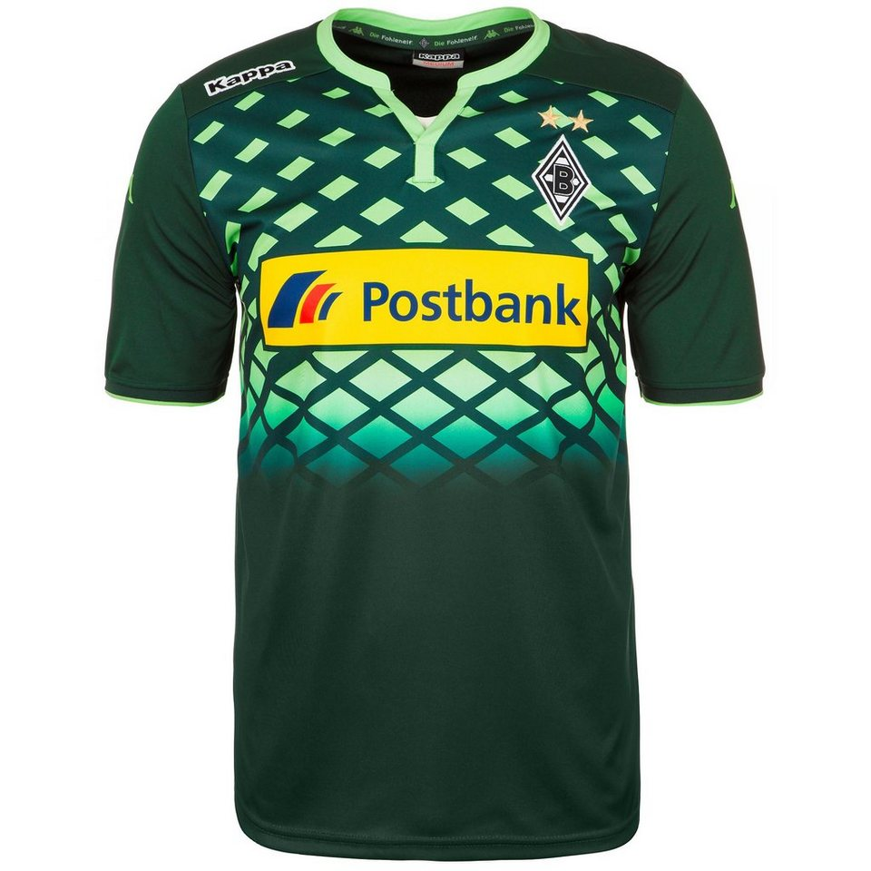 KAPPA Borussia Mönchengladbach Trikot Away 2015/2016 Herren in dunkelgrün / mint