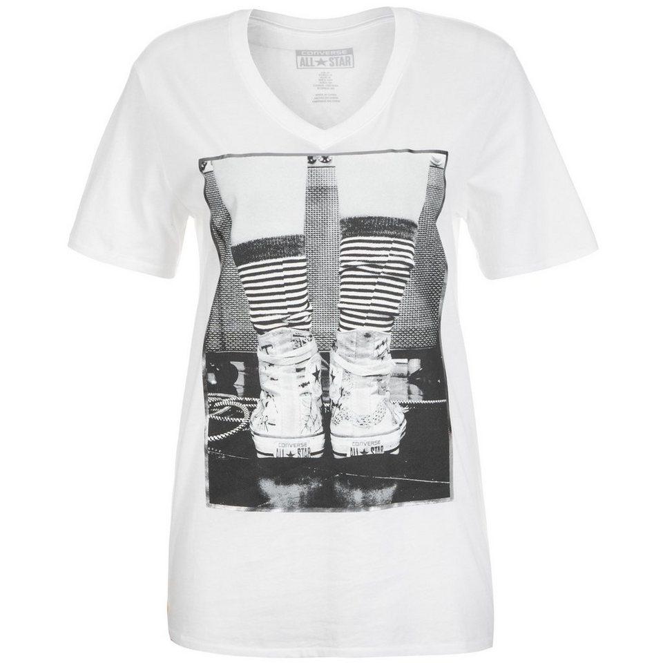 CONVERSE Photo Chuck BF T-Shirt Damen in weiß