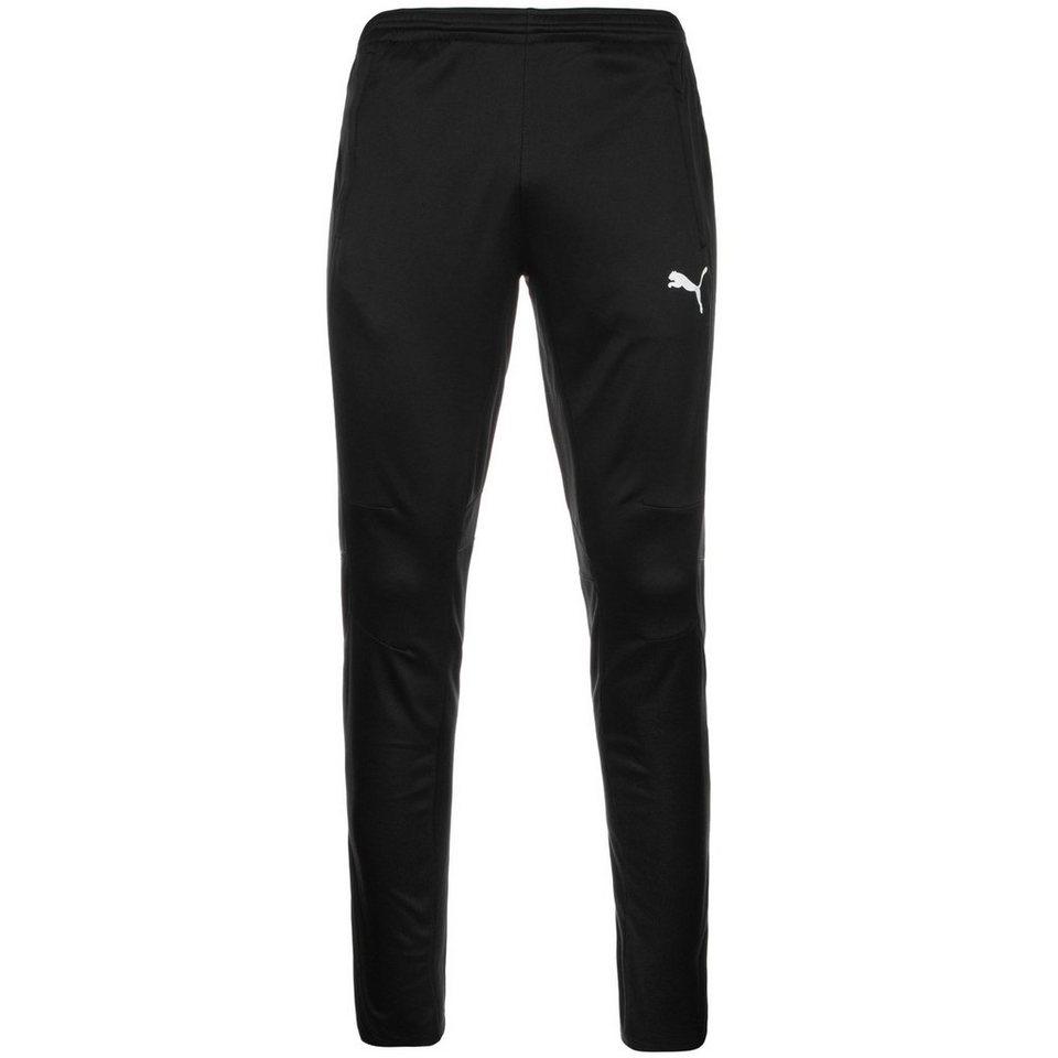 PUMA Trainingshose Herren in schwarz / weiß