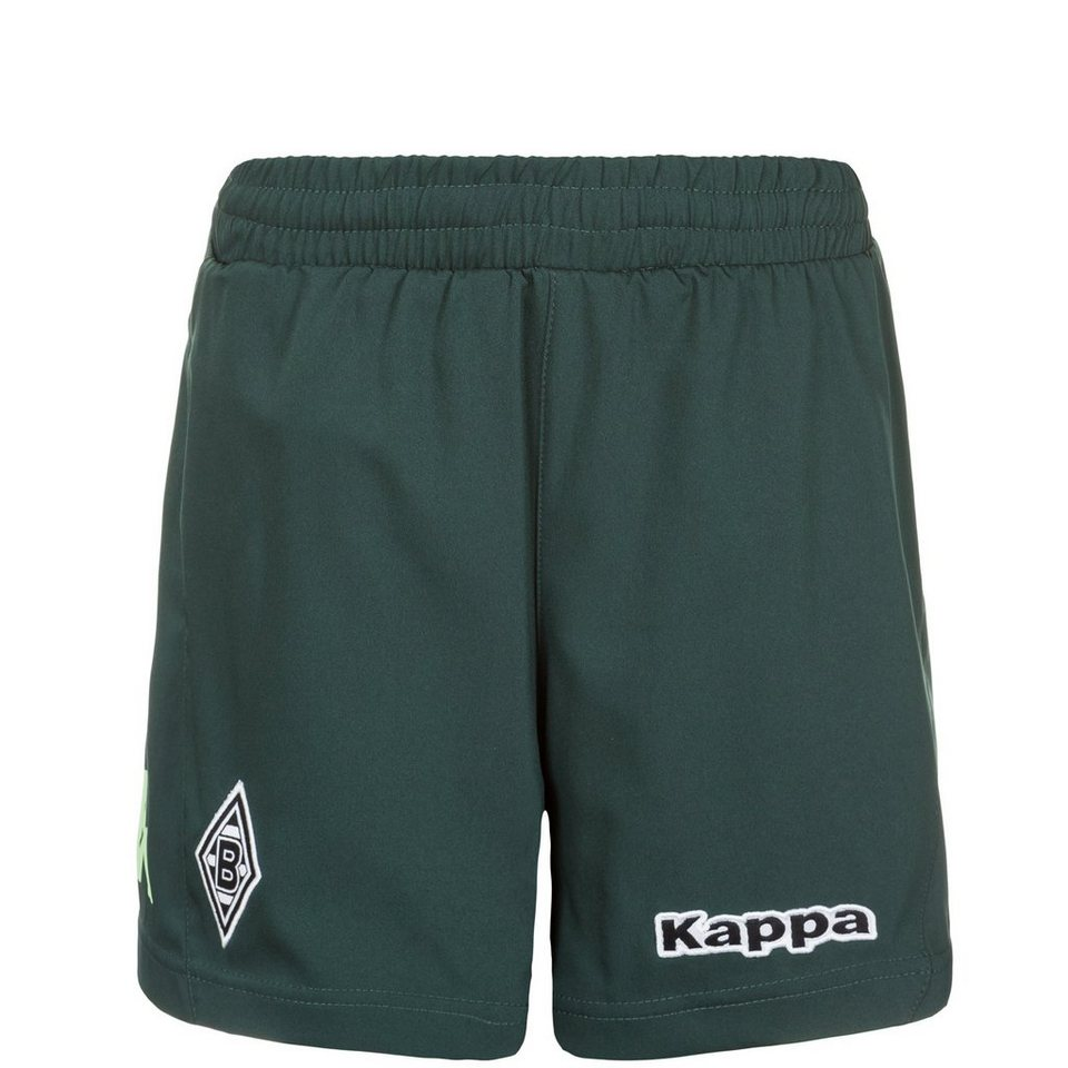 KAPPA Borussia Mönchengladbach Short Away 2015/2016 Kinder in dunkelgrün / mint