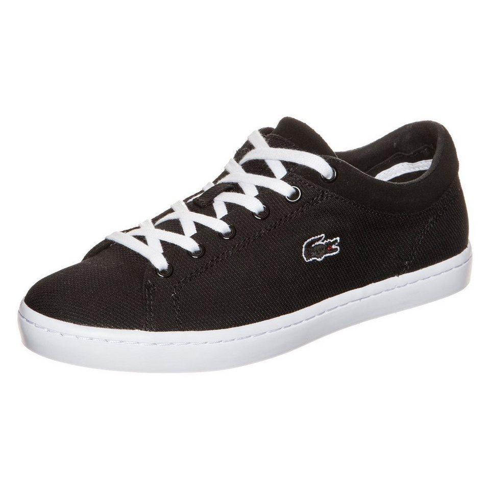 LACOSTE Straightset Sneaker Damen in schwarz