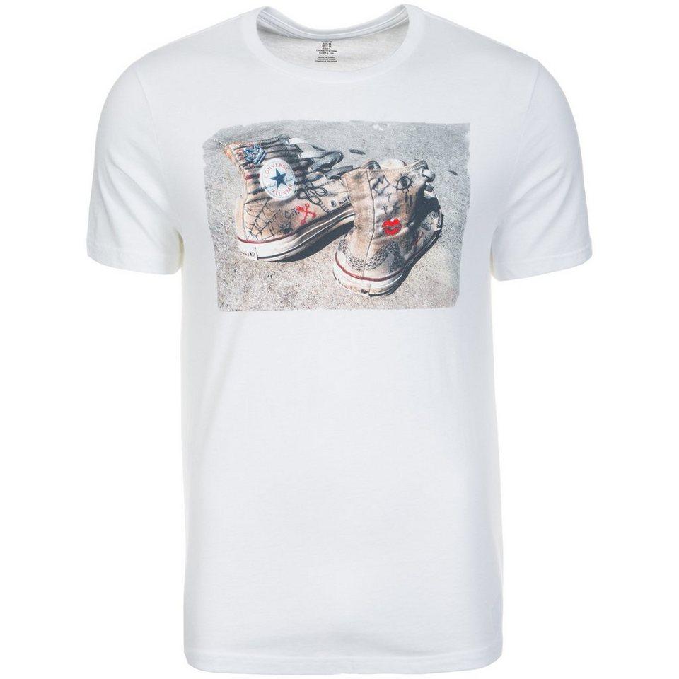 CONVERSE Chuck Photo Crew T-Shirt Herren in weiß