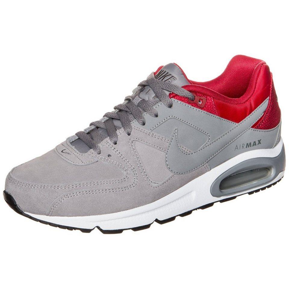 Nike Sportswear Air Max Command Leather Sneaker Herren in grau / rot / weiß