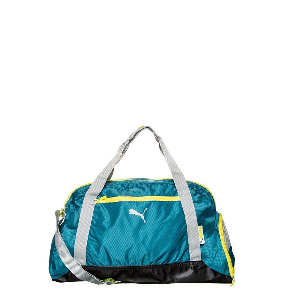 PUMA Athletic Duffle Sporttasche Damen in blau / grau / gelb