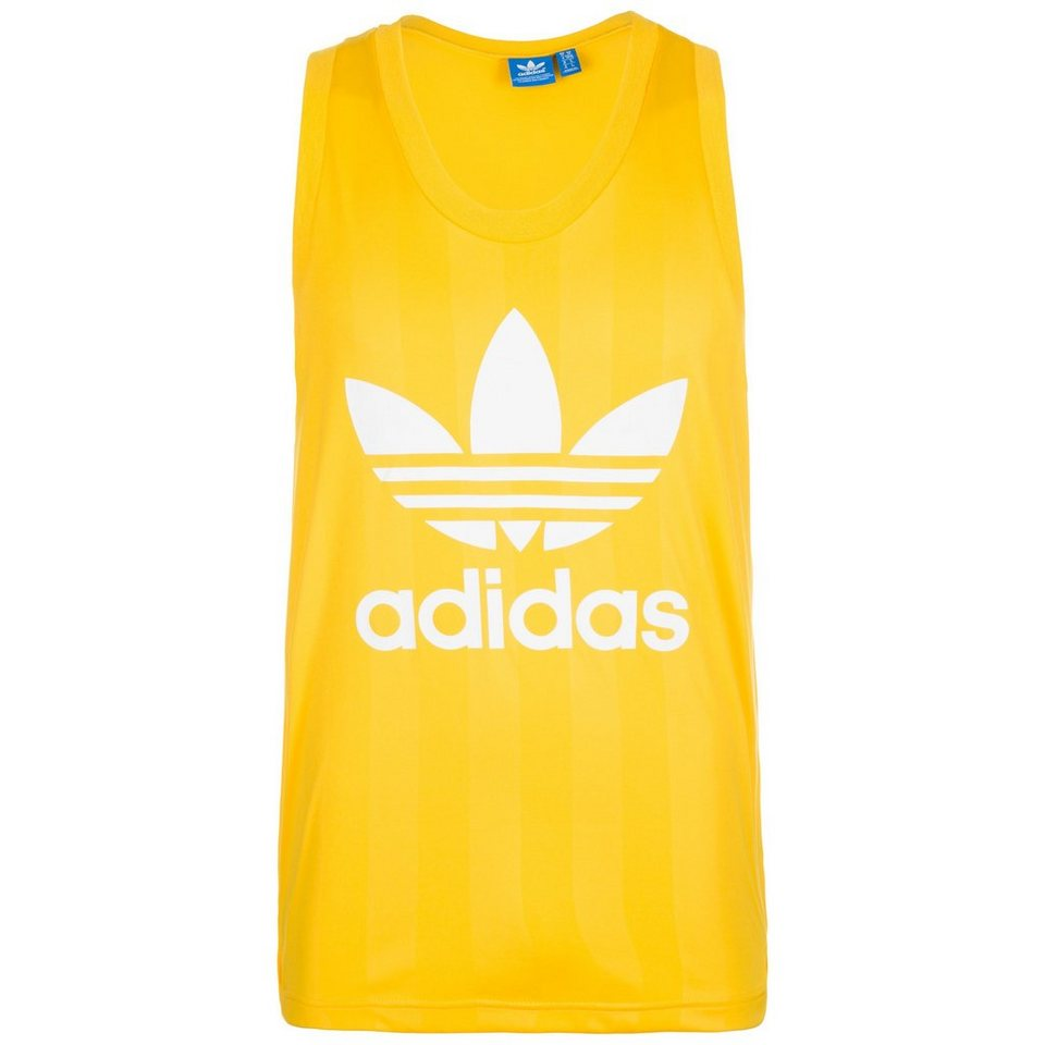 adidas Originals Trefoil Tanktop Herren in gelb / weiß