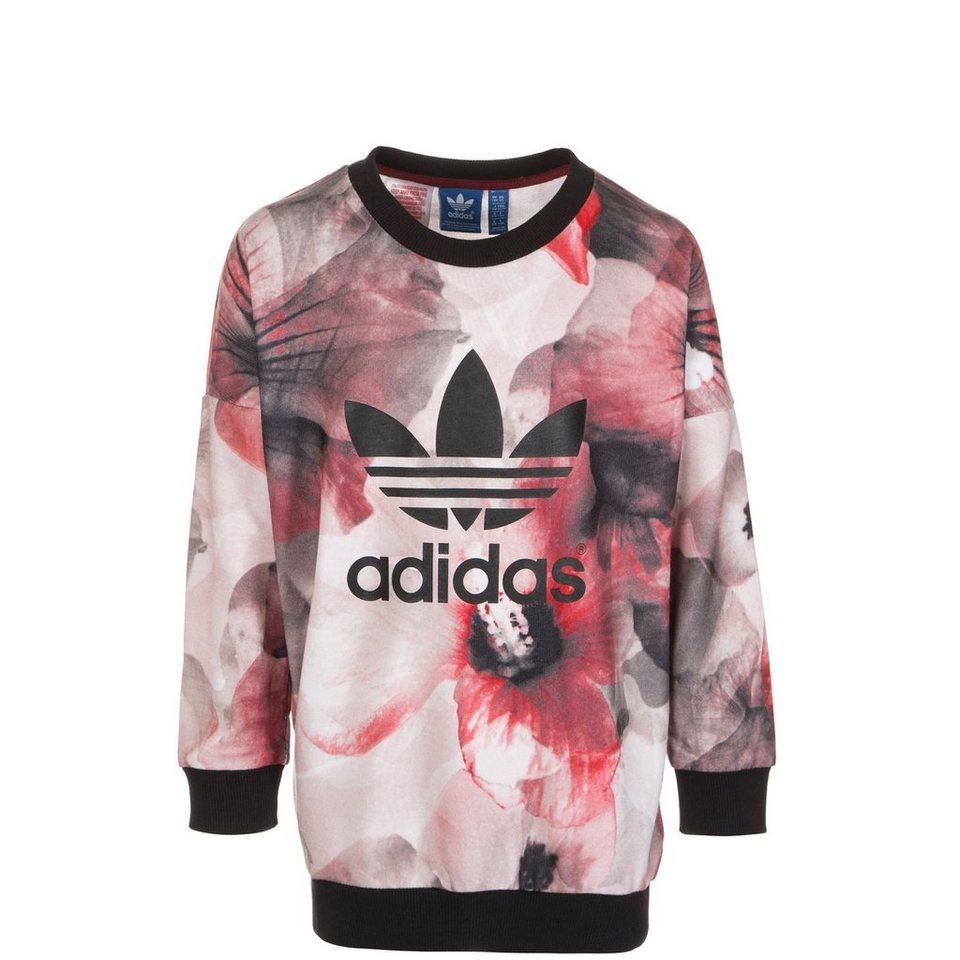 adidas Originals Allover Print Sweatshirt Kinder in rot / pink / schwarz