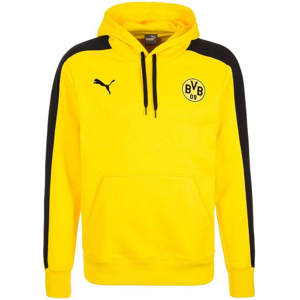 PUMA Borussia Dortmund T7 Kapuzenpullover Herren in gelb / schwarz