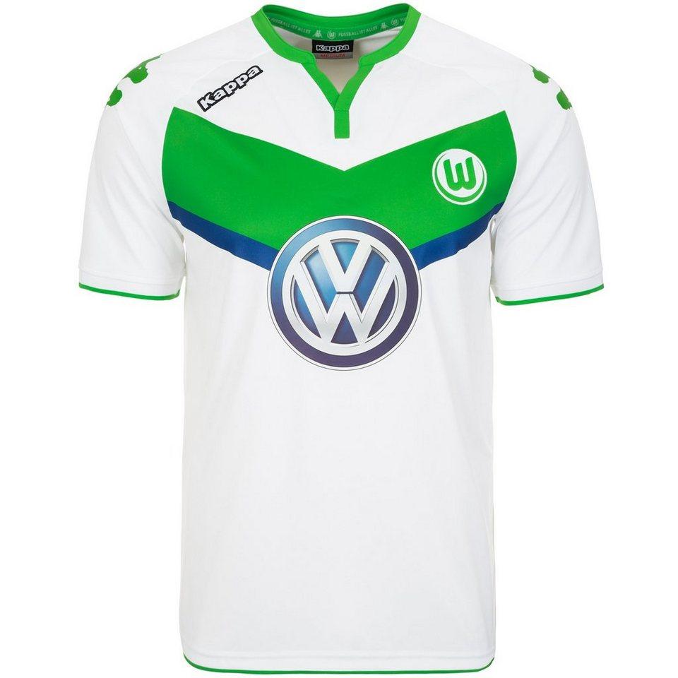 KAPPA VfL Wolfsburg Trikot Home 2015/2016 Herren in weiß / grün
