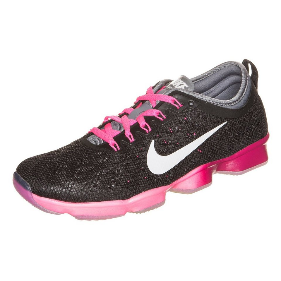 NIKE Zoom Fit Agility Trainingsschuh Damen in schwarz / pink