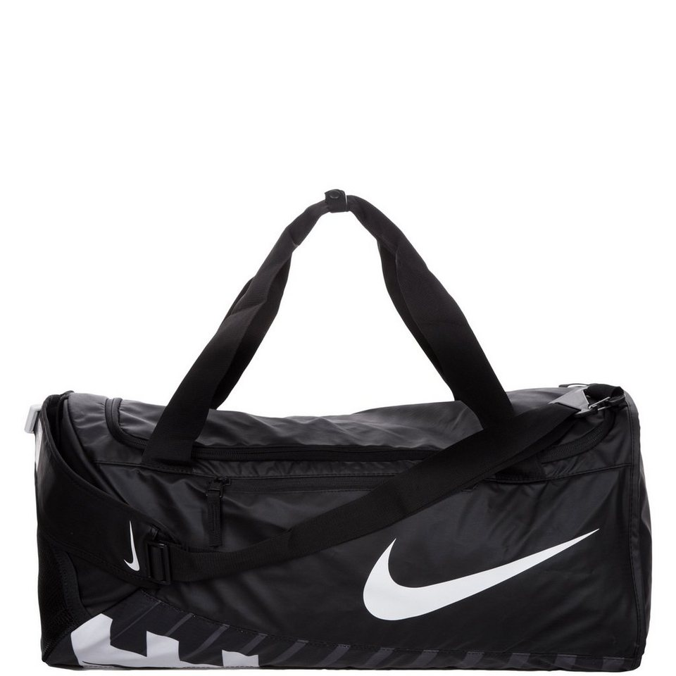NIKE Alpha Adapt Cross Body Sporttasche Medium in schwarz / weiß