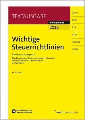 Broschiertes Buch »Wichtige Steuerrichtlinien«