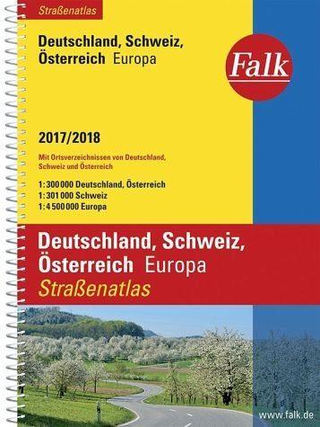 Broschiertes Buch »Falk Straßenatlas Deutschland, Schweiz,...«