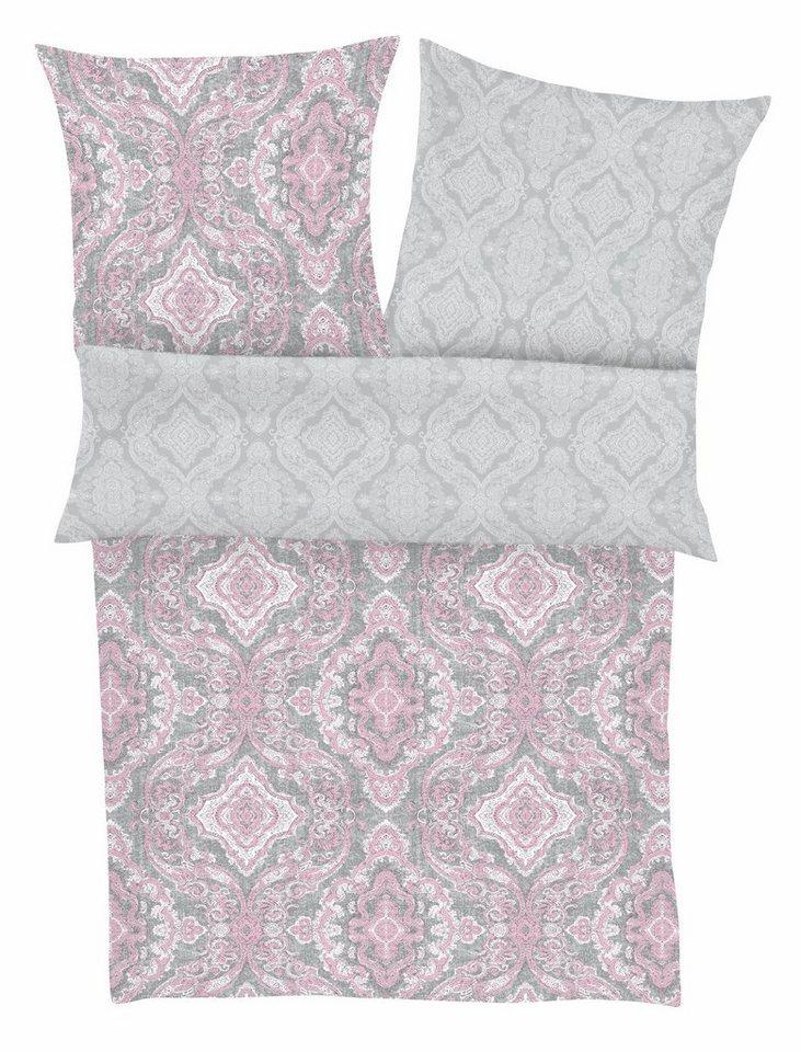 Wendebettwäsche, Zeitgeist, »Neo Ornament«, mit Musterung in grau-rosa