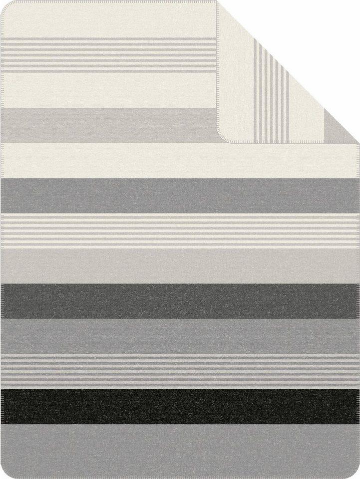 Wohndecke, s.Oliver RED LABEL, »Blay«, mit strukturierten Streifen in grau