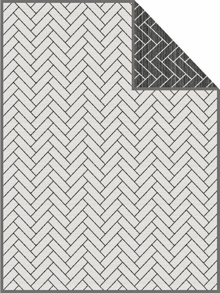 Wohndecke, bugatti, »Roof«, mit besonderem Muster in anthrazit-weiß