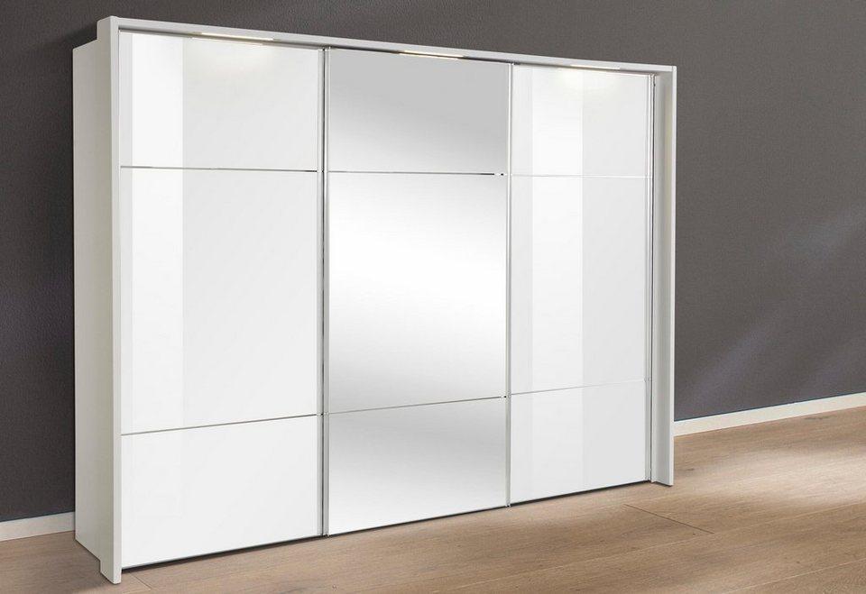nolte® Möbel Schwebetürenschrank »Marcato«, mit Fronten aus Weißglas und Spiegel in Front Weißglas/Spiegel