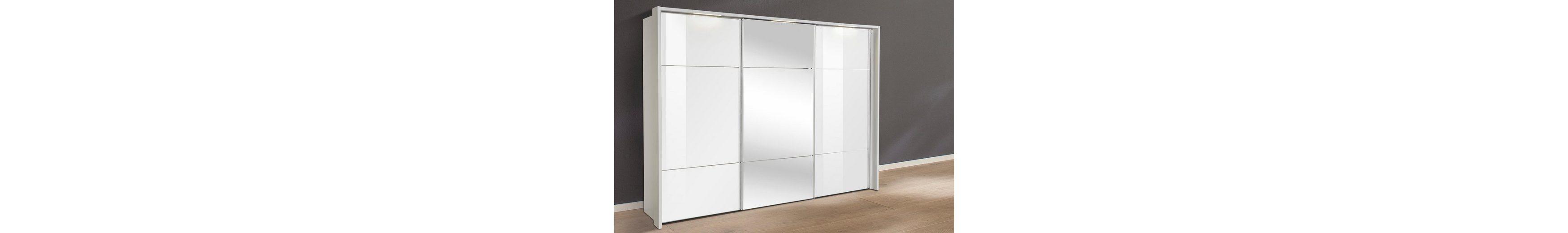 nolte® Möbel Schwebetürenschrank »Marcato«, mit Fronten aus Weißglas und Spiegel