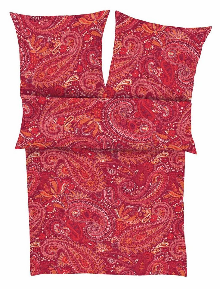 Bettwäsche, s.Oliver RED LABEL, »Pais«, mit Paisley-Muster in rot