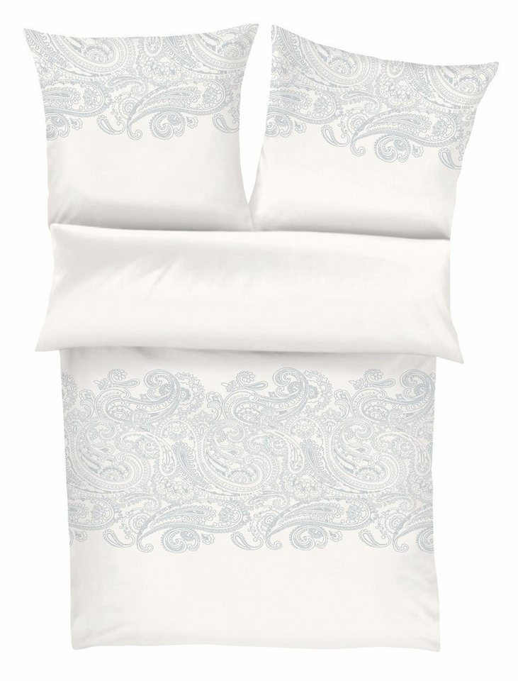 Bettwäsche, Zeitgeist, »Blumenkind«, mit leichtem Muster in weiß