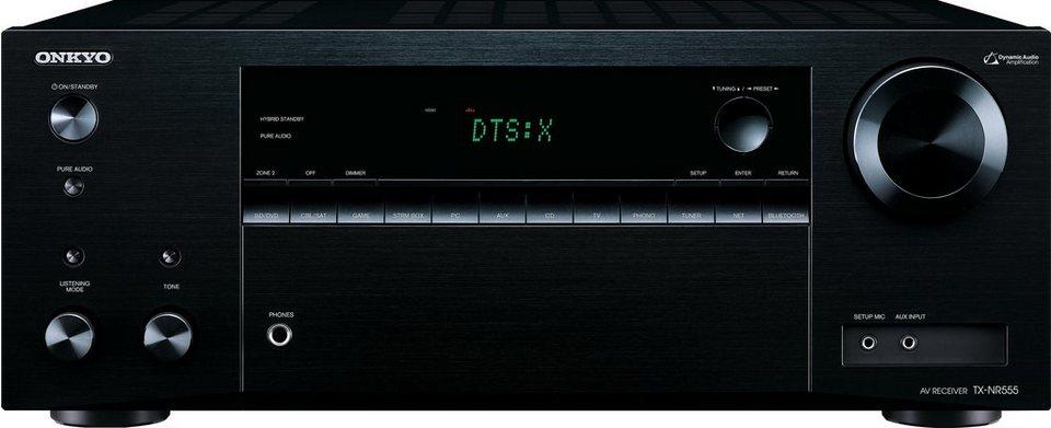 Onkyo TX-NR555 7.2 AV-Receiver (Hi-Res, 3D, Spotify Connect, Deezer, Airplay, WLAN, Bluetooth) in schwarz