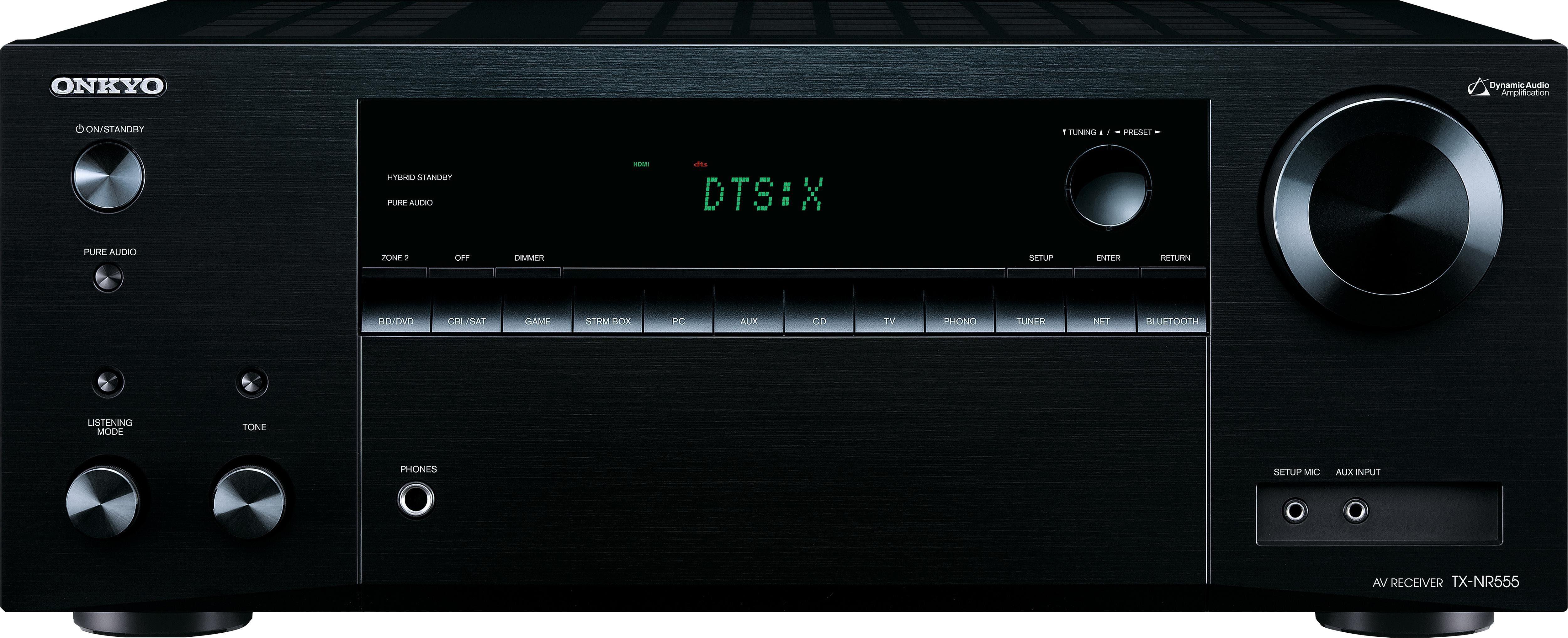 Onkyo TX-NR555 7.2-Kanal AV-Receiver (Hi-Res, 3D, Spotify Connect, Deezer, Airplay, WLAN, Bluetooth)