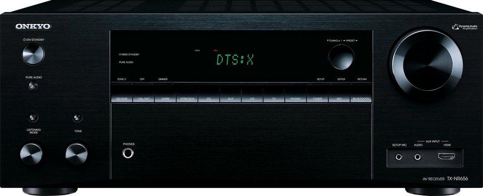 Onkyo TX-NR656 7.2 AV-Receiver (Hi-Res, Spotify, Deezer, Airplay, WLAN, Bluetooth) in schwarz