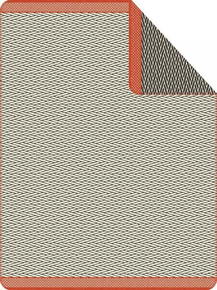 Wohndecke, Ibena, »Lahti«, mit feiner Musterung in grau