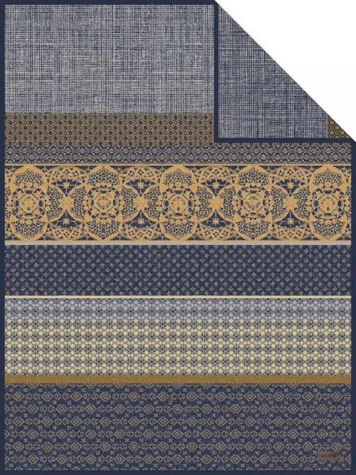 Wohndecke, Ibena, »Bologna«, mit toller Musterung in blau
