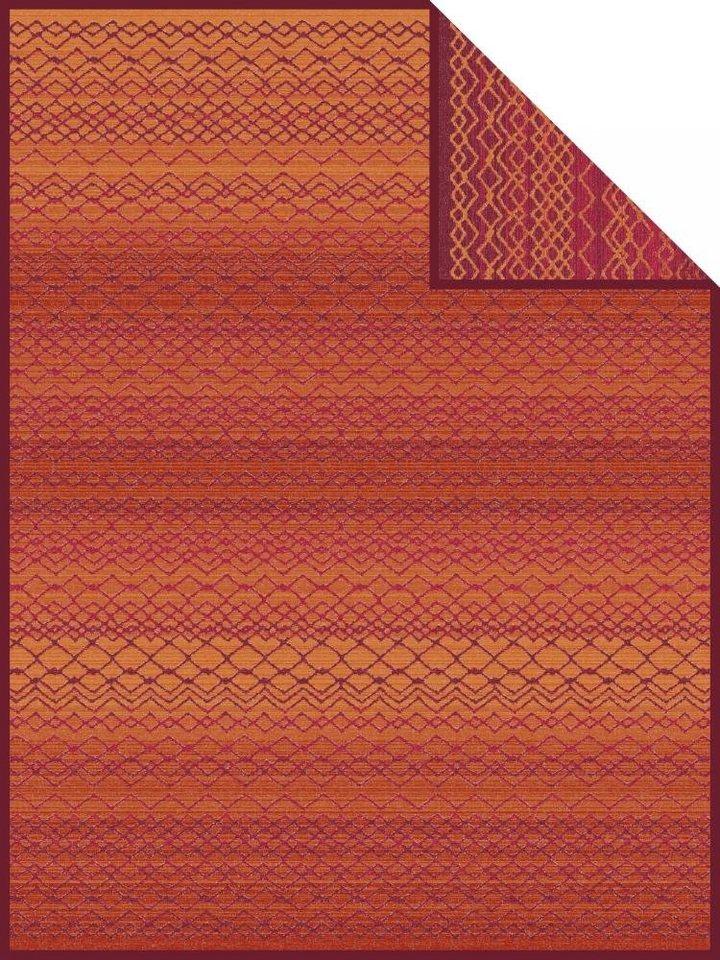 Wohndecke, Ibena, »Rundu«, mit feinen Mustern in rot