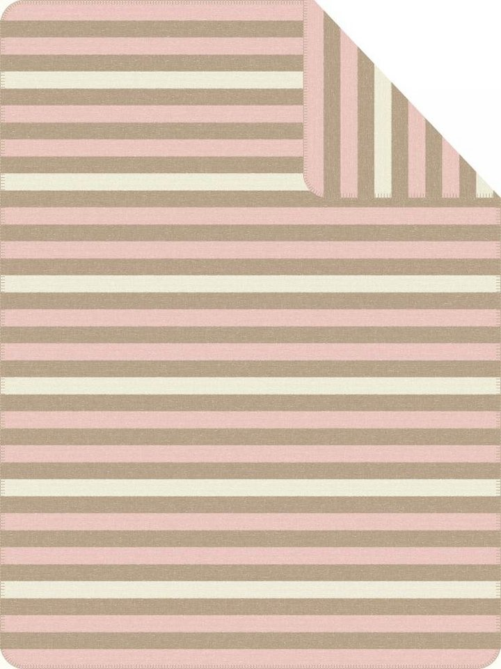 Wohndecke, Ibena, »Farum«, mit Querstreifen in rose-beige