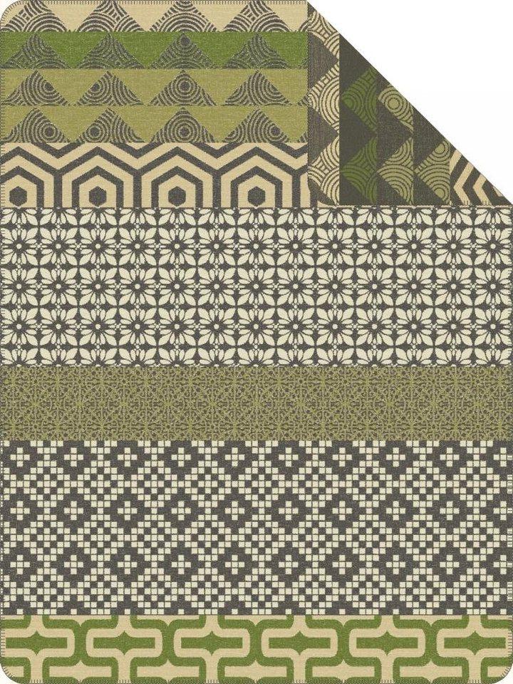 Wohndecke, Ibena, »Ringsted«, mit verschiedenen Mustern in grün
