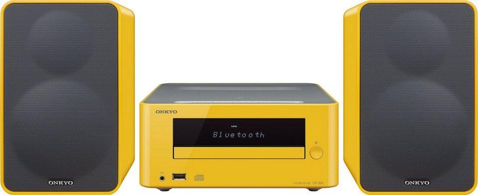 CS-265 Minianlage, Bluetooth, NFC, RDS, 1x USB in gelb