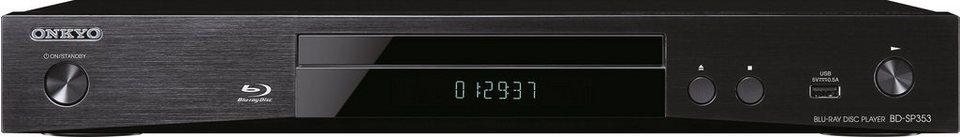 Onkyo BD-SP353 Blu-ray-Player, Hi-Res, 1080p (Full HD) in schwarz