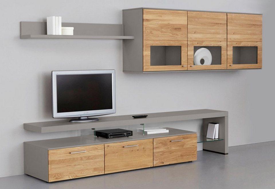 netfurn by gwinner wohnwand solano lack fango 3 tlg online kaufen otto. Black Bedroom Furniture Sets. Home Design Ideas