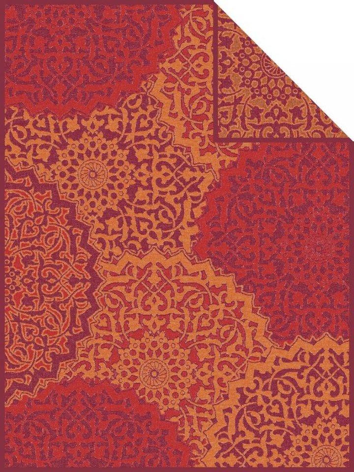 Wohndecke, Ibena, »Kairo«, mit großen Ornamenten in rot