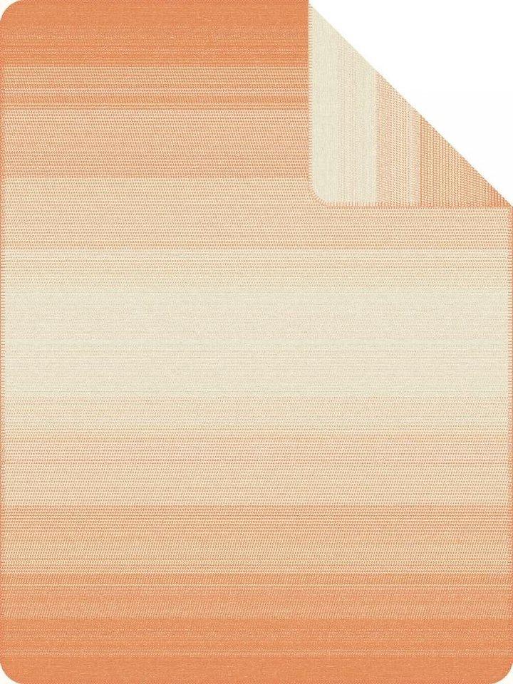 Wohndecke, Ibena, »Egersund«, mit strukturierter Optik in orange
