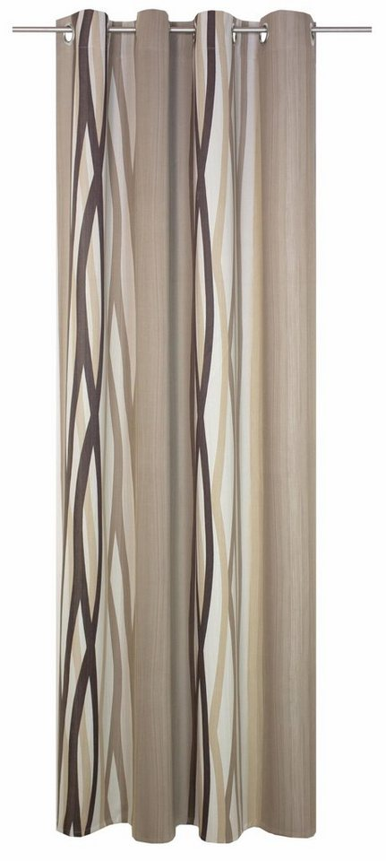 Vorhang, Wirth, »Brooklyn«, mit Ösen (1 Stück) in braun