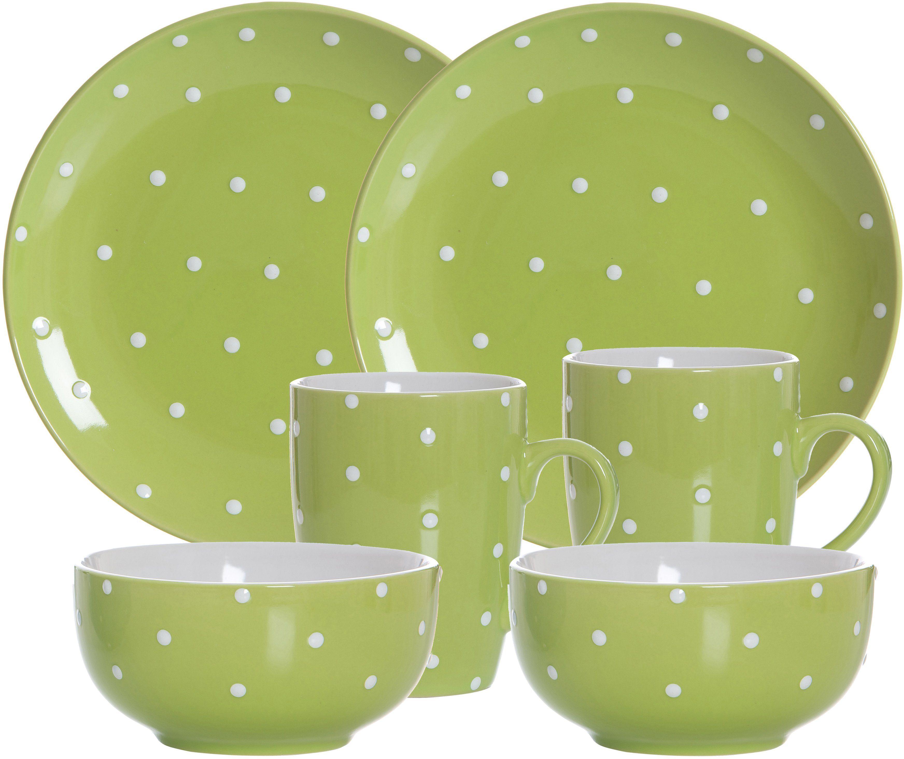 Ritzenhoff & Breker Frühstück-Set, Keramik, 6 Teile, »PINTO«