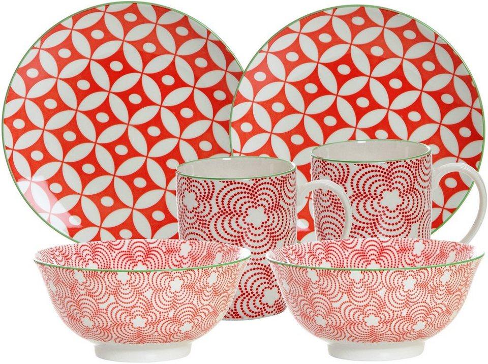 ritzenhoff breker fr hst ck set rot porzellan 6 teile makina online kaufen otto. Black Bedroom Furniture Sets. Home Design Ideas