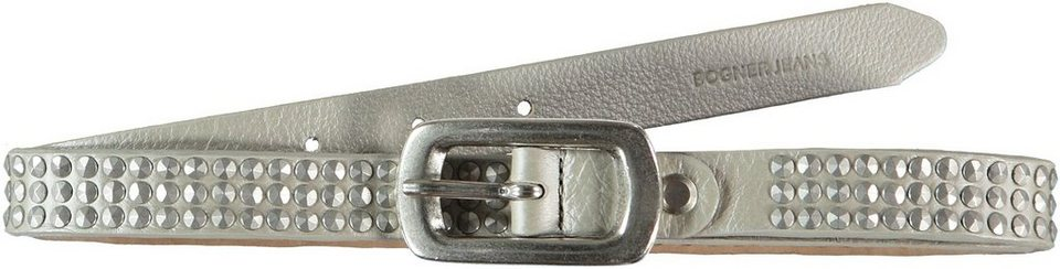Bogner Jeans Gürtel in silver metallic