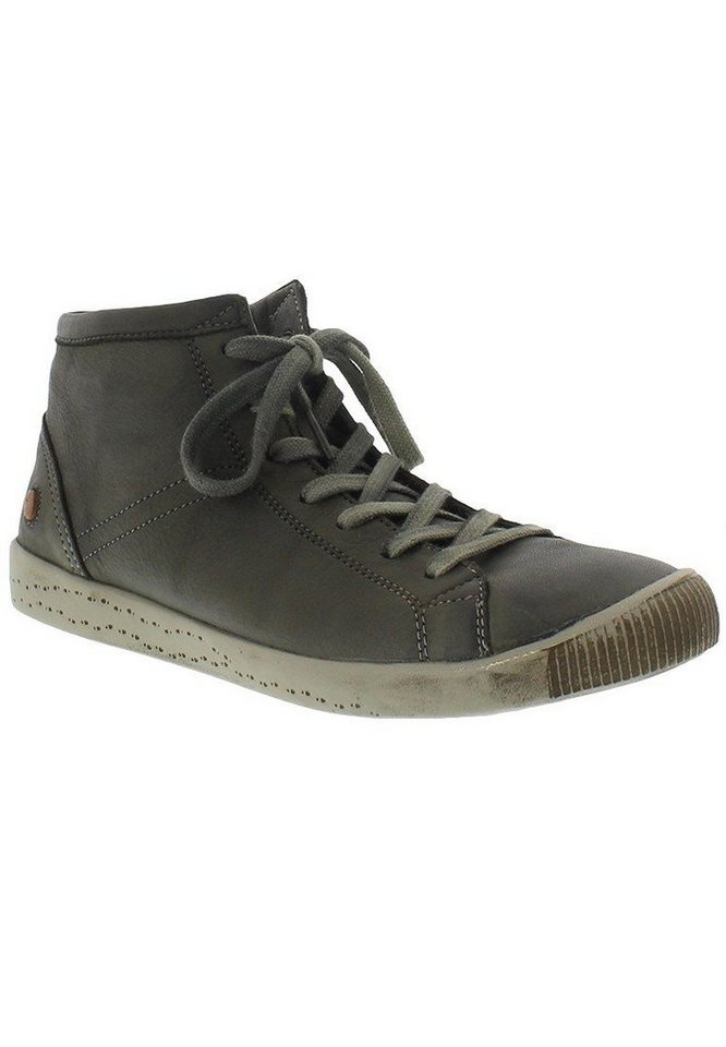 softinos Sneaker high »Isleen washed leather HW16« in grün