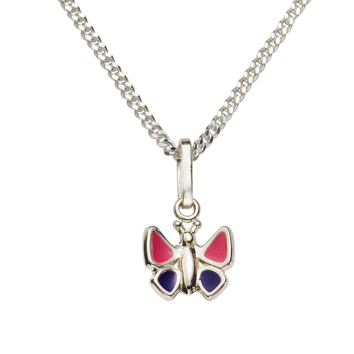 Zeeme Anhänger mit Kette »925/- Sterling Silber Lack pink lila«
