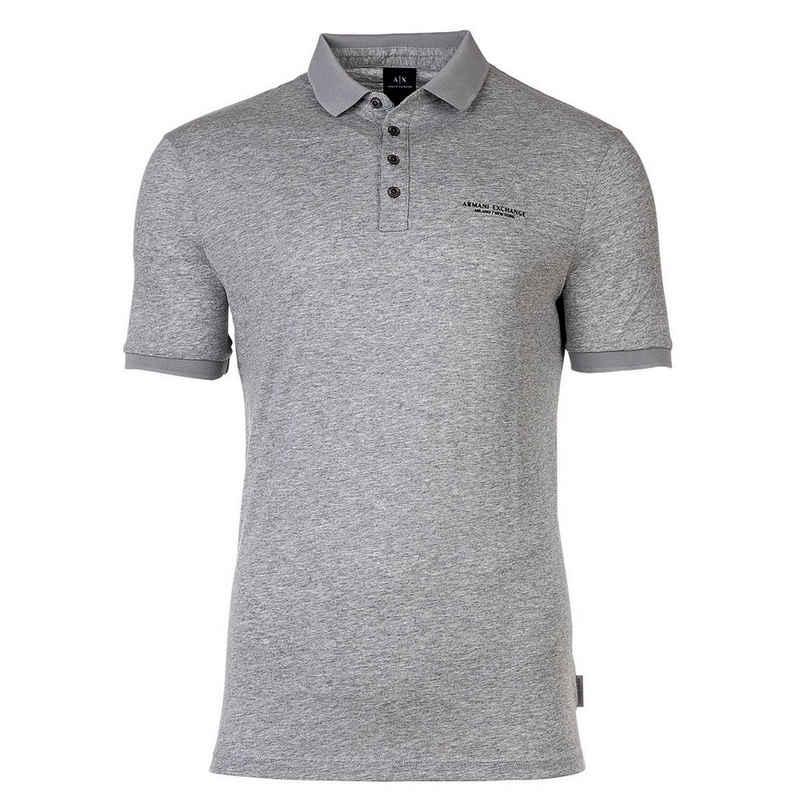 Emporio Armani T-Shirt »Herren Poloshirt - Schriftzug, Slim fit, Cotton«