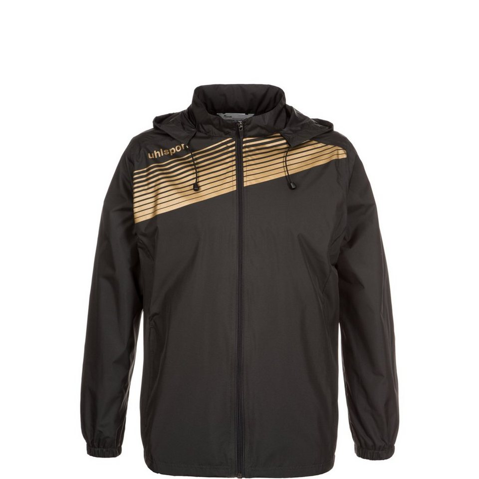 UHLSPORT Liga 2.0 Regenjacke Kinder in schwarz / gold