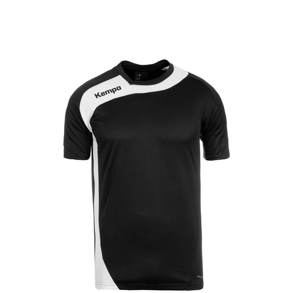 KEMPA Peak Handballtrikot Kinder in schwarz / weiß