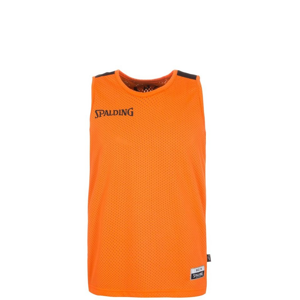 SPALDING Essential Reversible Basketballtrikot Kinder in orange / schwarz