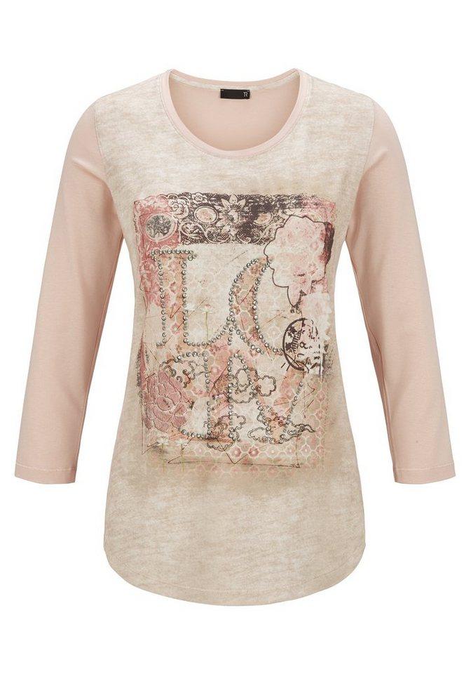 Thomas Rabe Shirt mit Print und Text in LACHS
