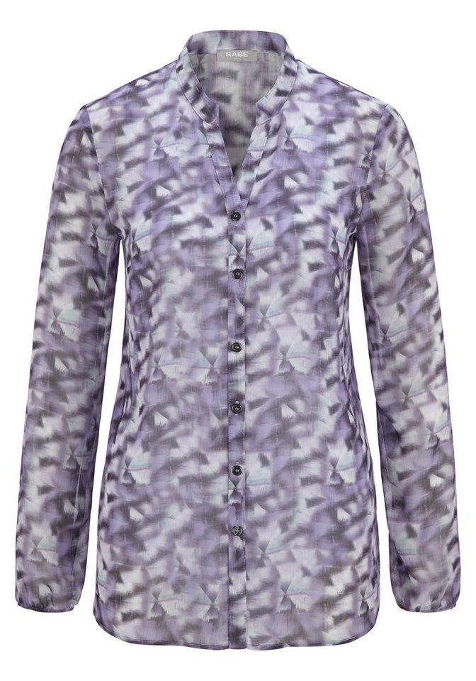 Rabe Bluse mit Print und V-Ausschnitt in VIOLA