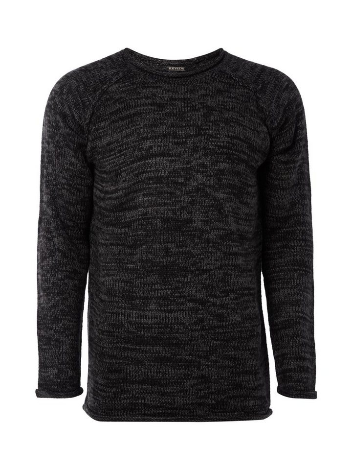 REVIEW Pullover in ANTHRAZIT MELIERT